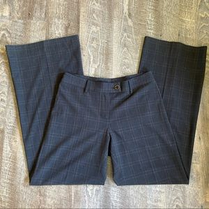 CAbi black plaid wide leg trousers
